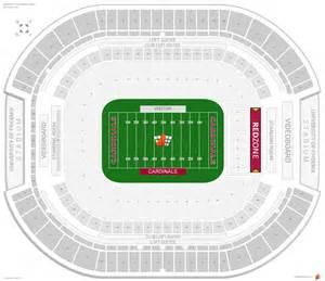 arizona cardinals seating map arizona cardinals seating guide of