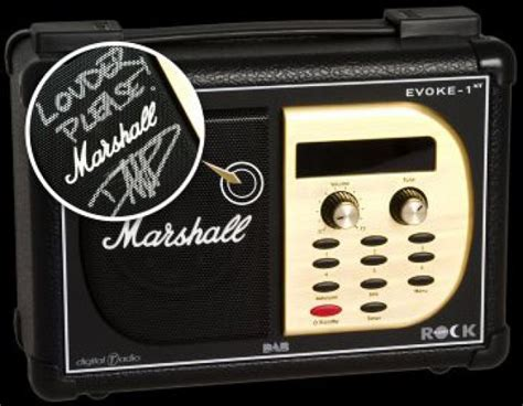 Ure Evoke 1xt Marshall Edition Dab Digital Radio For Aspiring Air Guitarists Everywhere by Line Up For Dab Charity Auction