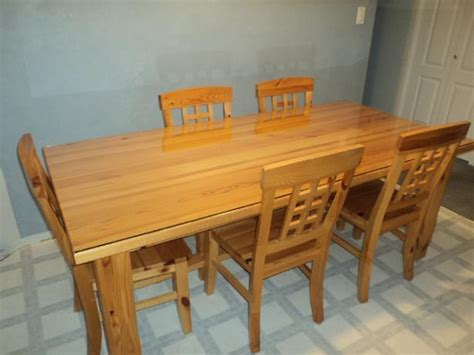 Solid Pine Kitchen Table Solid Pine Glass Top Kitchen Table And 5 Chairs East