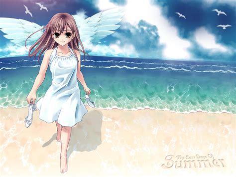 anime girl summer wallpaper hiroshi hiroyama wallpaper last days of summer minitokyo