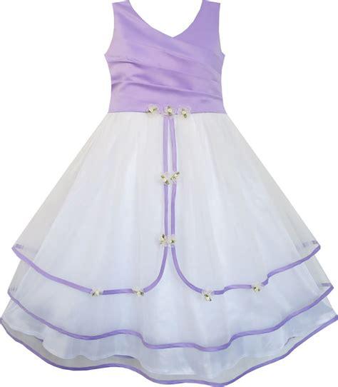 21300 Purple Fashion Flower Size S fashion flower dress purple wedding bridesmaid