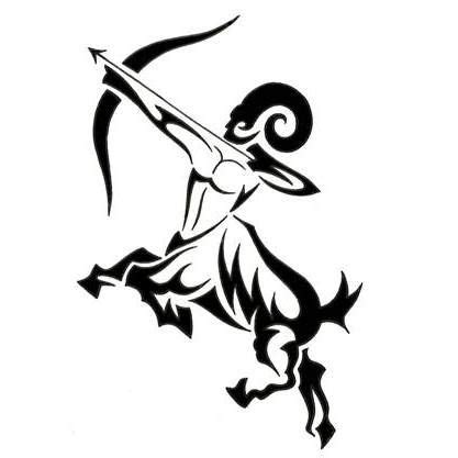 sagittarius tribal tattoos sagittarius tribal tattoos tatt