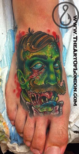 tattoo new school zombie victorian gentleman zombie by london reese tattoonow