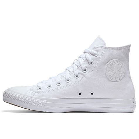 Canvas Grid Mono chuck all mono canvas high top in white