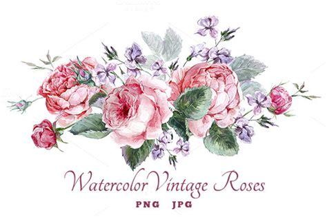 Lipstik Transparan Bunga watercolor vintage roses vintage roses and watercolor