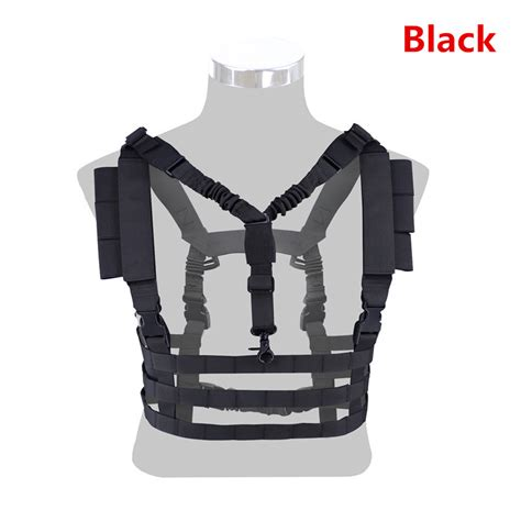 Rompi Tactical Vest Fsbe Molle Improt tactical molle vest ammo chest rig removable gun sling airsoft paintball