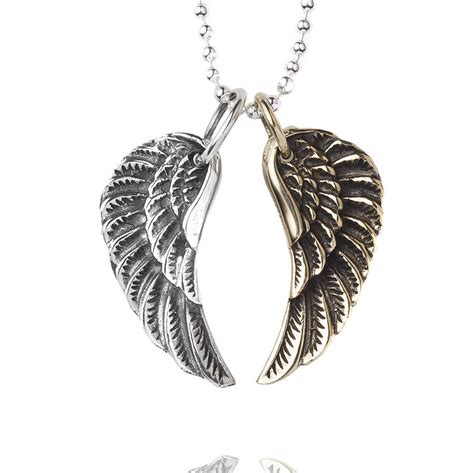 small wing necklace by silver service jewellery