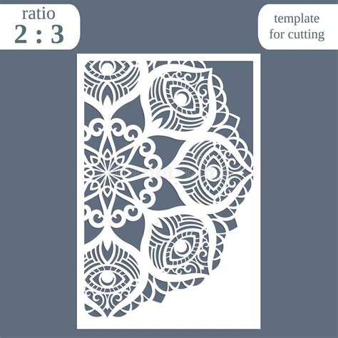 Laser Cut Wedding Card Template Paper Openwork Greeting Card Template For Cutting Lace Laser Cut L Template