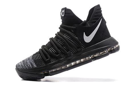 2017 nike kd 10 black white grey basketball shoes cheap