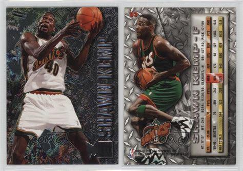 Basketball Cards Ultra 1996 On The Block Shawn Kemp 129 1996 97 fleer metal 93 shawn kemp seattle supersonics