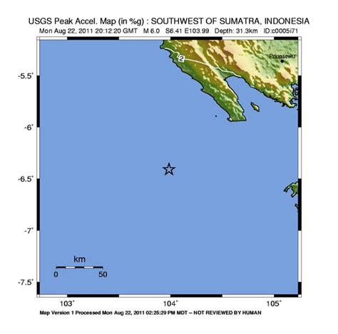 a 6 0 magnitude earthquake struck off the coast of java a magnitude 6 0 earthquake struck off the coast of sumatra
