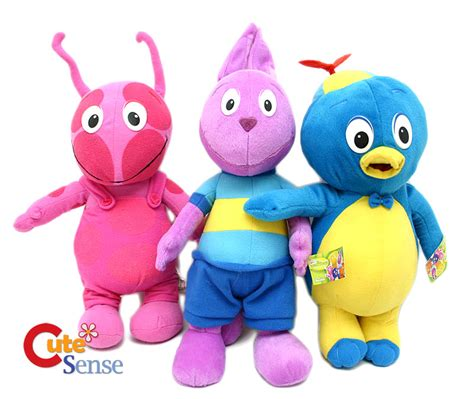 Backyardigans Dolls Backyardigans Pablo Uniqua Plush Doll 10 Quot 3pc Small