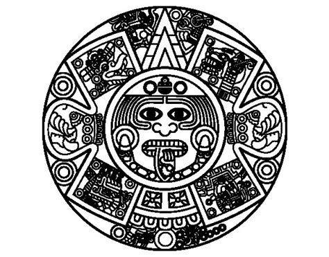 aztec calendar coloring page books worth reading aztec calendar coloring page coloringcrew