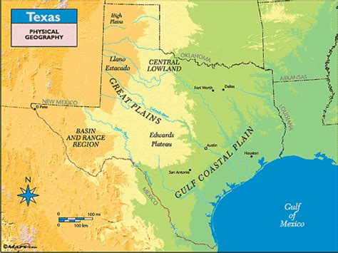 physical texas map texas physical geography map by maps from maps world s largest map store