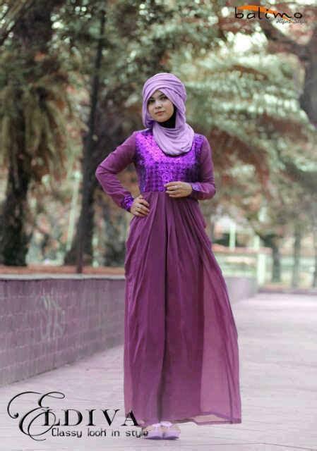 Balino Gamis Ungu busana muslim koleksi terbaru