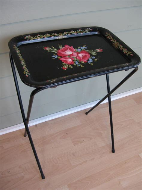 The Tv Trays by On Hold For Rwater Vintage Tv Tray