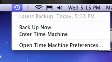 top menu bar disappears time machine icon missing from menu bar desktop mac how