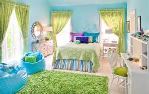 attractive White And Turquoise Bedroom Ideas #4: interior-bedroom-iblue-color-scheme-design-for-cool-bedroom-combined-with-green-curtain-and-rectangle-green-fur-rug-cool-paint-colors-for-bedrooms-936x591.jpg