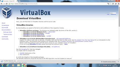 tutorial menggunakan oracle virtualbox cara menginstall oracle vm virtualbox pada windows 7