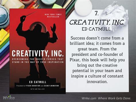 team creativity and innovation books creativity inc ed catmull success