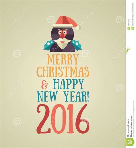 happy new year title vector happy new year 2016 colorful flat design vector