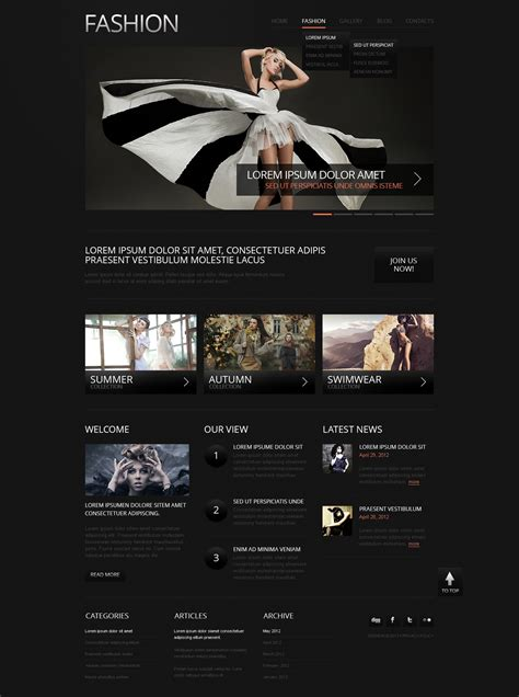 drupal themes live demo fashion responsive drupal template 39985