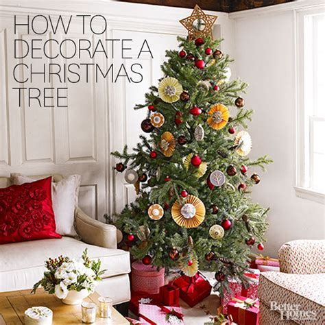 different ways to light a christmas tree how to decorate a tree from better homes gardens