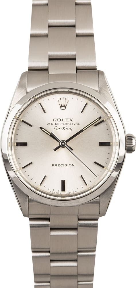Rolex Oyster Silver rolex air king 5500 steel oyster silver