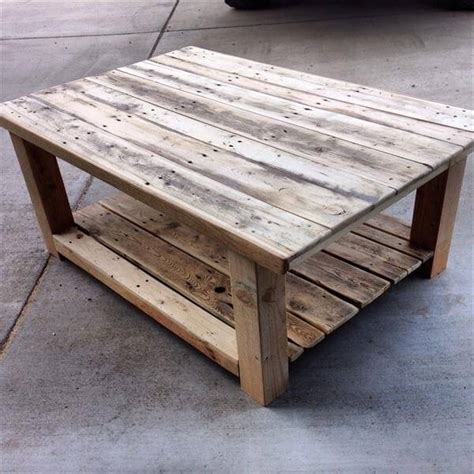 Wooden Pallet Coffee Tables Diy Repurposed Pallet Wood Coffee Table 101 Pallets