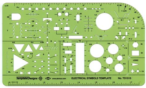 Electrical Template alvin td1515 electrical drawing template electrical