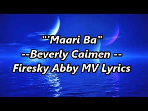 theme music maari quot maari ba quot beverly caimen theme song of two mothers