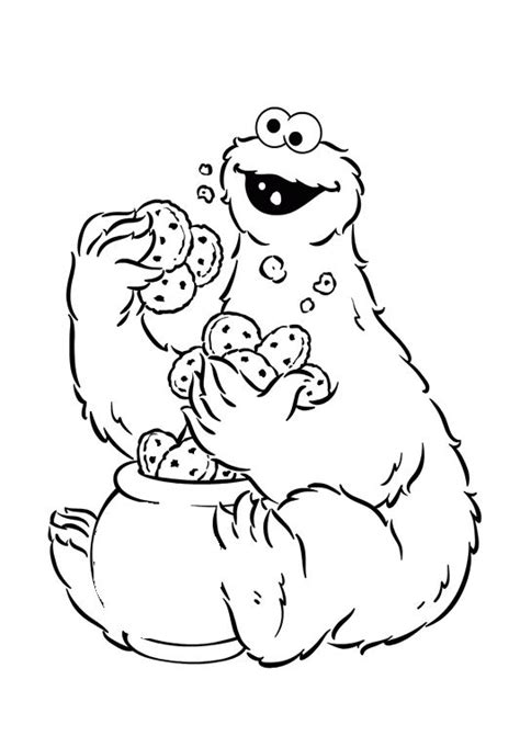13 best images about sesame street coloring pages on