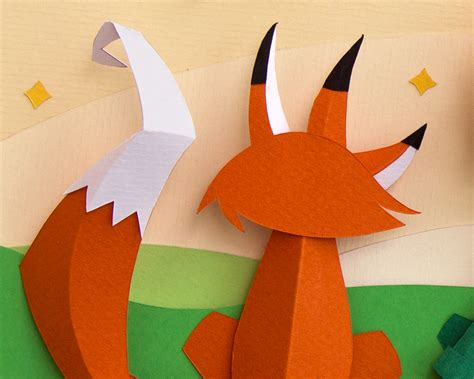 Paper Craft Design - graphic design paper craft project inspired by the