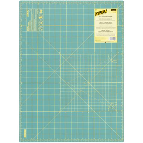 Cutting Mat Singapore by Olfa Rm Sg 18x24 Quot Inch Rotary Cutting Mat Green 1 5mm Thick Self Healing Sided Yellow