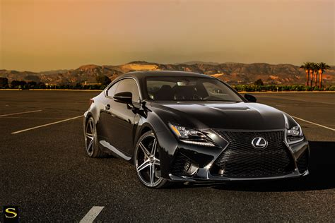 lexus coupe black lexus rc f black di forza bm8 savini wheels