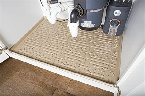 kitchen sink cabinet liner save 3 xtreme mats under sink kitchen cabinet mat drip