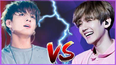 exo vs bts 2017 baekhyun exo vs jungkook bts vocal battle 2017 youtube
