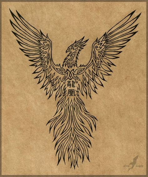 dragon and phoenix tattoo designs rising design by alviaalcedo deviantart