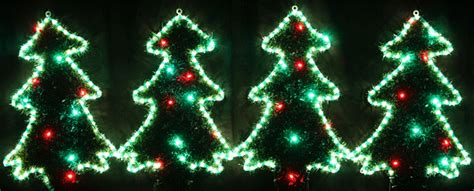 animated 61cm high 4 led christmas trees motif rope lights