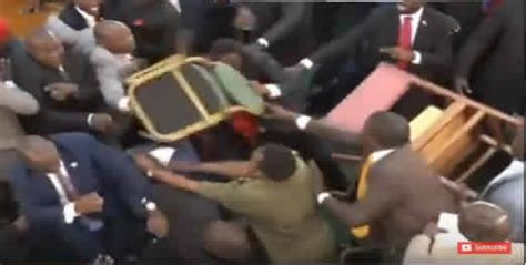 armchair throw video rowdy session at plenary as mps throw chairs