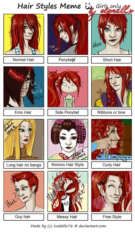 Hairstyle Meme - johannah hair styles meme by elgrell on deviantart
