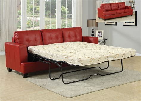 red sleeper sofa sofa bed sleeper diamond red leather sofa queen sleeper