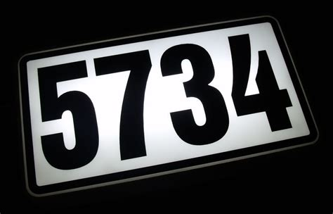 lighted house number sign personalized lighted address sign house number led lighted