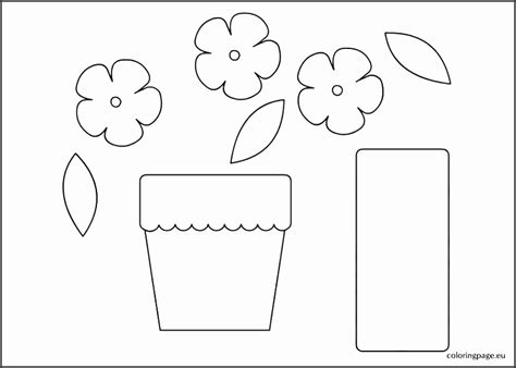 potted flower card templates 6 flower pot template printable sletemplatess