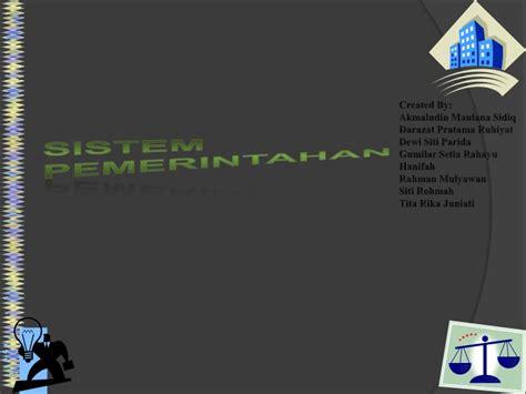 Pokok Pokok Teori Sistem Tatang M Amirin sistem pemerintahan