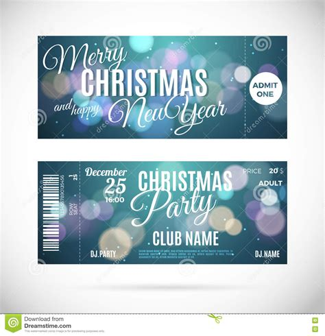 christmas party ticket template fly air ticket in green envelope isolated white royalty free stock image