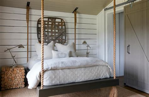 suspension bed suspended rope bed country bedroom