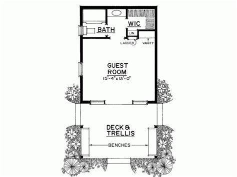 1 bedroom guest house floor plans eplans country house plan rustic cabin or special guest