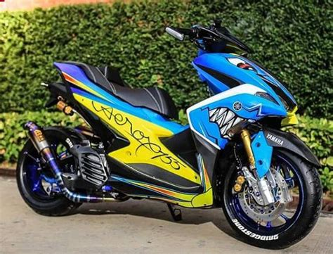 Aerox 155 Modif by Modifikasi Aerox 155 Terbaru 2018 Simple Minimalis