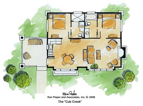 Small Mountain Cabin Floor Plans by Mountain Cabin Plans